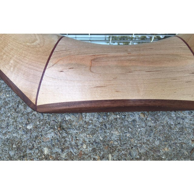2010s Custom Octagonal Mirror With Maple and Rosewood Inlay For Sale - Image 5 of 6