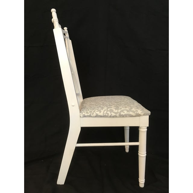 Vintage Thomasville Faux Bamboo Chinoiserie Hollywood Regency Chairs - Set of 8 For Sale - Image 6 of 7