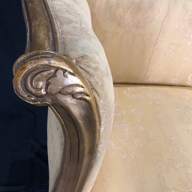 French Louis XV Style Giltwood Sofa For Sale - Image 11 of 13