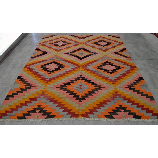 Turkish Antalya Barak Kilim Anatolia Rug - 6′10″ × 8′4″ For Sale - Image 4 of 11