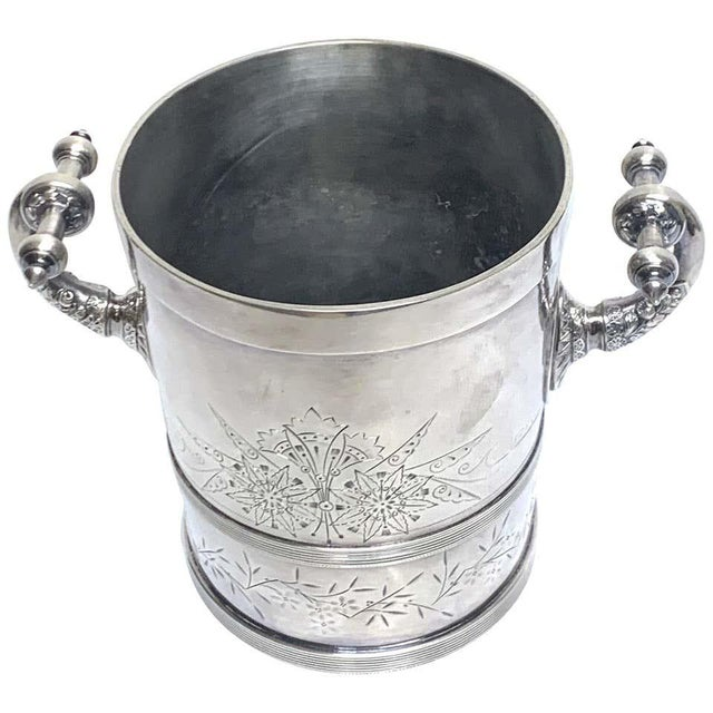 American Aesthetic Silver Plated Champagne/Ice Bucket, by Meriden Silver Co For Sale - Image 10 of 10