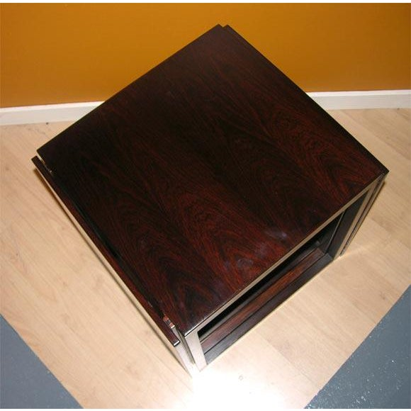 Danish Modern Danish Rosewood Cube of Nesting Tables - Set of 3 For Sale - Image 3 of 7