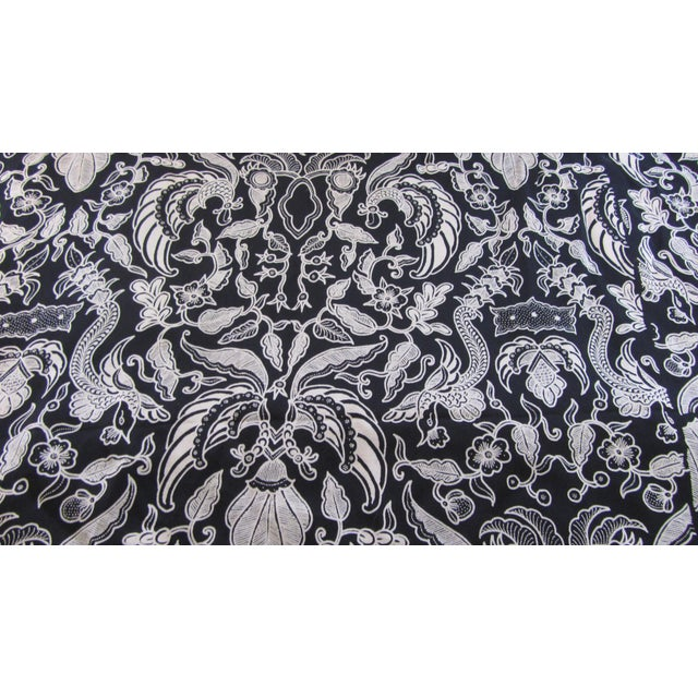 Black & Gold French Silk Damask Throw - Image 4 of 9