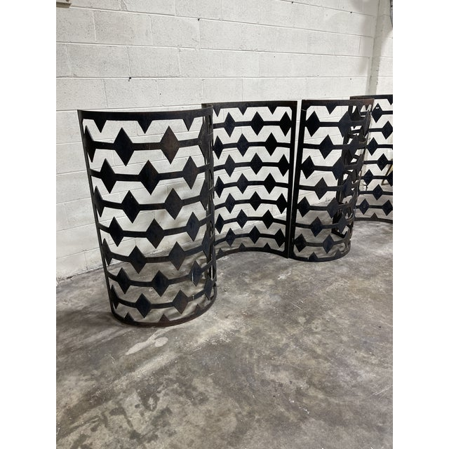 Curved Iron Architectural Panels - Set of 4 For Sale - Image 4 of 11