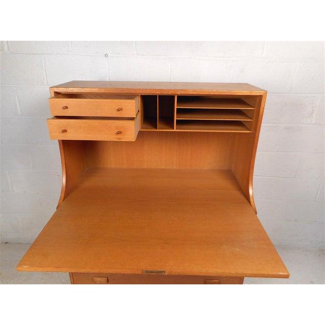 Soborg Mobelfabrik Danish Modern Secretary Desk by Børge Mogensen for Soborg For Sale - Image 4 of 13