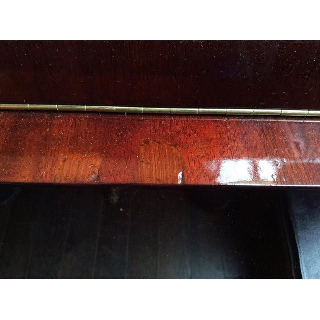 Red Gilbert Rohde Art Deco Oval Drop-Leaf Desk For Sale - Image 8 of 13