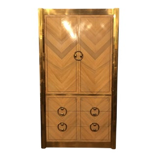 Mastercraft Zebrano Mid-Century Armoire For Sale