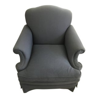 Traditional Upholstered Arm Chair For Sale