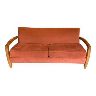 Thayer Coggin Ultra suede Sofa For Sale
