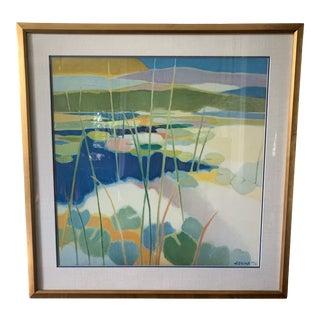 1970s Vintage Tadashi Asoma Offset Lithograph Print For Sale