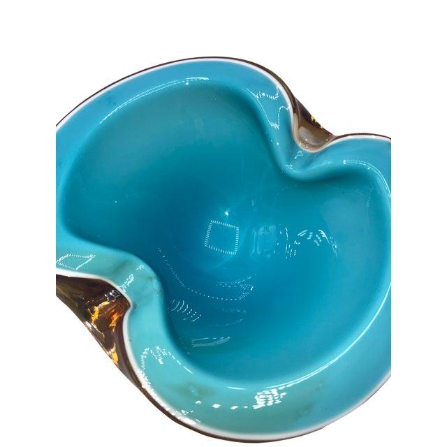 Mid Century Murano Alfredo Barbini Art Glass Bowl For Sale - Image 4 of 6