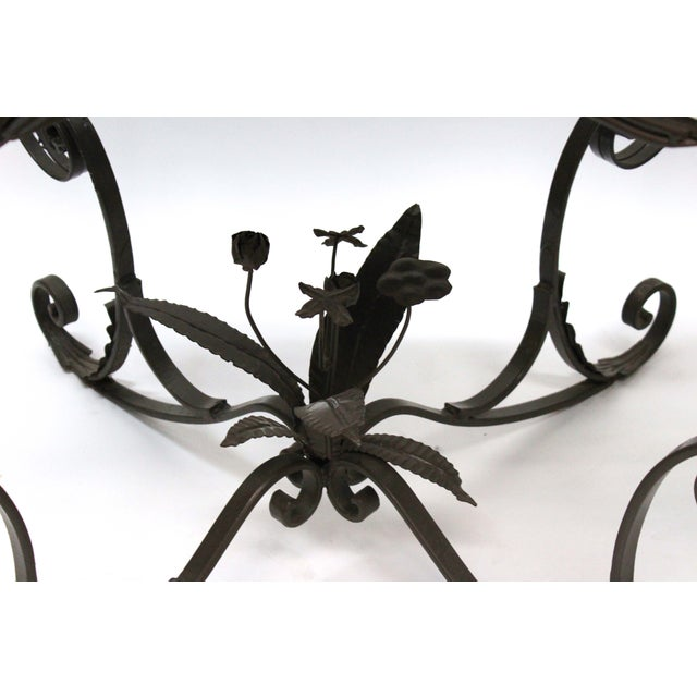 Iron Bent Floral Side Tables - A Pair For Sale - Image 7 of 7