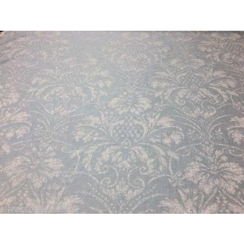 Contemporary Romo Serenity Linen in Sea Spray Light Blue - 9.75 Yards For Sale - Image 3 of 3