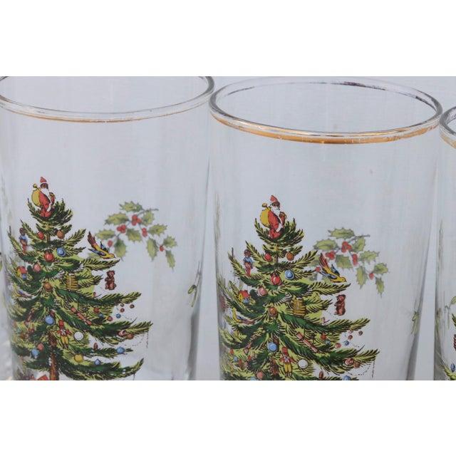 Vintage Christmas Tree Glasses - Set of 6 For Sale - Image 4 of 6