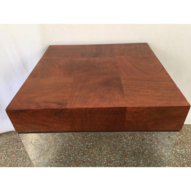 Vintage Milo Baughman Mirrored Cube End Table Chairish - Mirrored cube end table