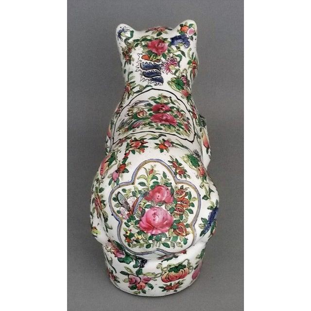 Blue Chinese Ceramic Porcelain Cat Table Sculpture Pillow Sculpture For Sale - Image 8 of 12