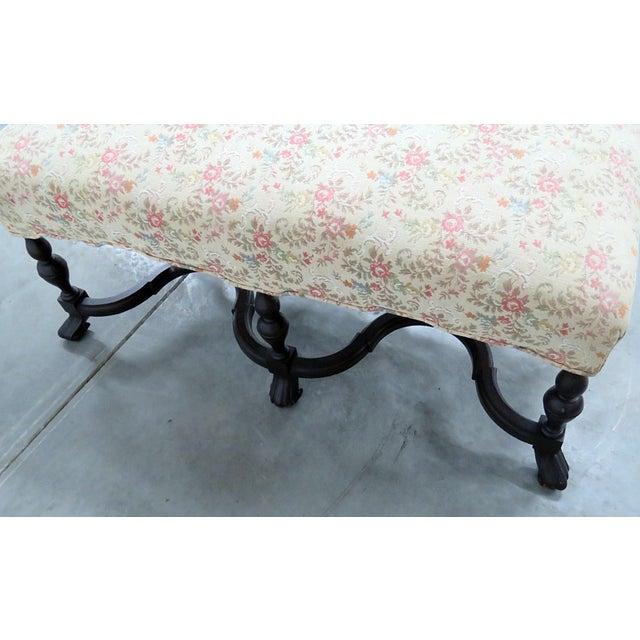 Regency Style Tapestry Bench For Sale In Philadelphia - Image 6 of 8