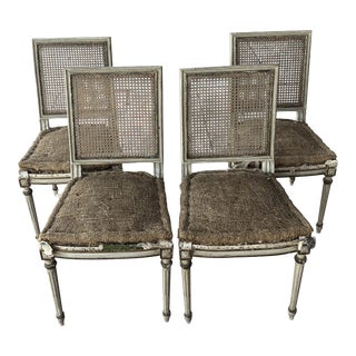 Maison Jansen Cane Back Dining Chairs - Set of 4