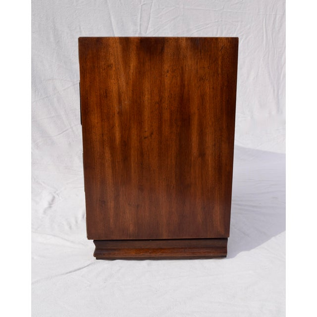 Metal Henredon Pan Asian Tansu Campaign Mahogany Bachelor Chest For Sale - Image 7 of 9
