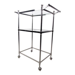 Vintage Chrome Bar Cart For Sale