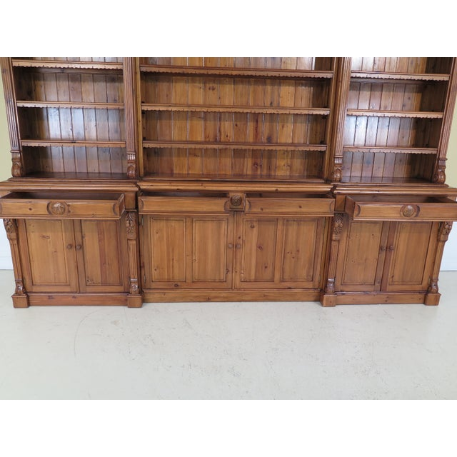 Country French Carved Pine Open Shelf Wall Cabinet
