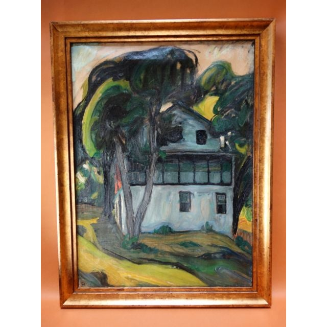 """Santa Barbara Adobe"" Painting by Ejnar Hansen For Sale - Image 5 of 7"