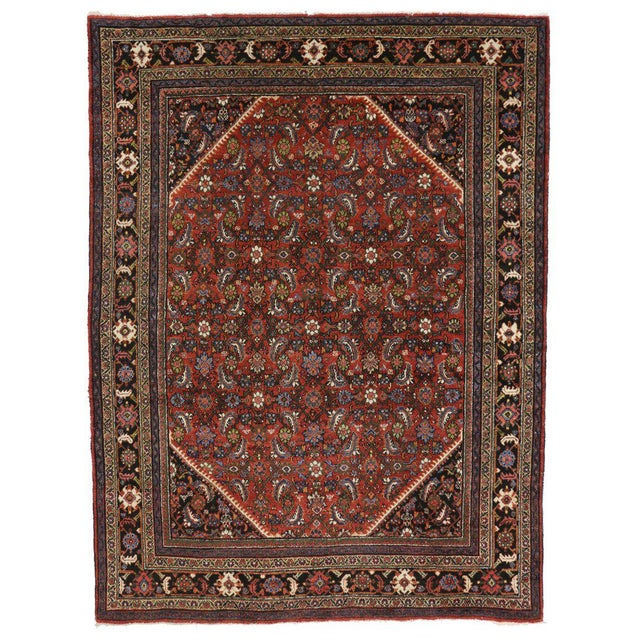 Antique Persian Mahal Rug with Traditional Style For Sale In Dallas - Image 6 of 6