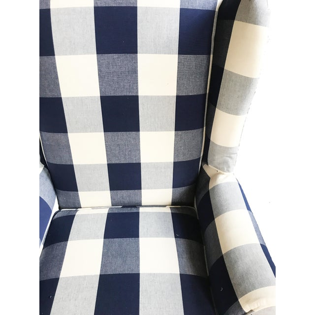 Buffalo Check Wingback Chair - Image 5 of 6
