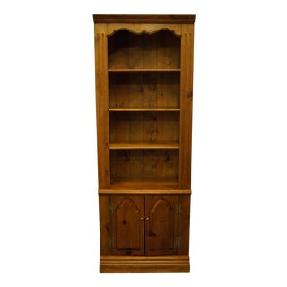 Habersham Plantation Pine Rustic Country Bookcase Wall Unit For Sale