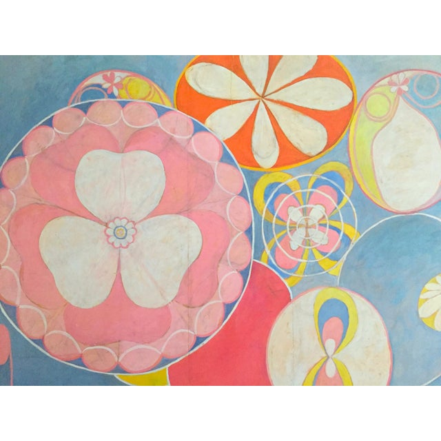 """Hilma Af Klint Swedish Abstract Lithograph Print Moderna Museet Exhibition Poster """" the Ten Largest, Childhood No.2 Group IV """" 1907 For Sale In Kansas City - Image 6 of 11"""