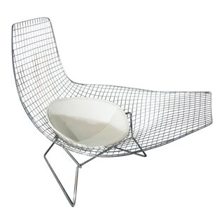 Modern Contemporary Harry Bertoia Style Asymmetrical Lounge Chair For Sale