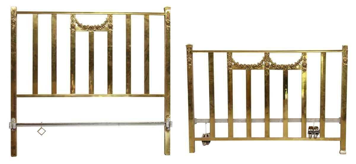 Vintage Bed Frames Metal Metal Atrisl Vintage White Upholstered