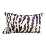 """Image of Transitional Custom Down-Filled Lumbar Schumacher's """"Animaux"""" Covered Pillow For Sale"""