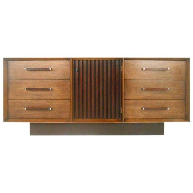 Mid-Century Modern American Walnut Dresser - Image 1 of 8