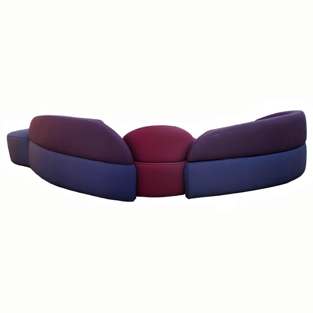 Roche Bobois Vladimir Kagan Sectional Sofa by Roche Bobois Vintage - Four Piece Living Room Set For Sale - Image 4 of 13