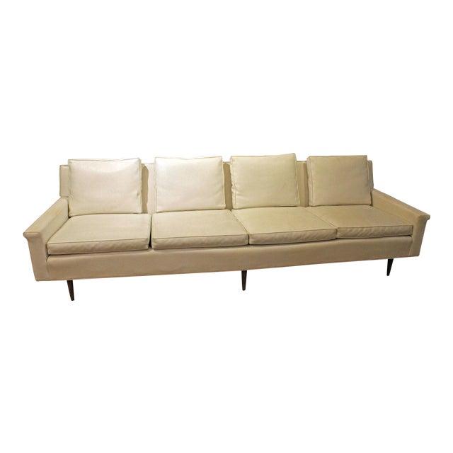 Mid-Century Danish Modern Milo Baughman Thayer Coggin White 4 Seat Sofa