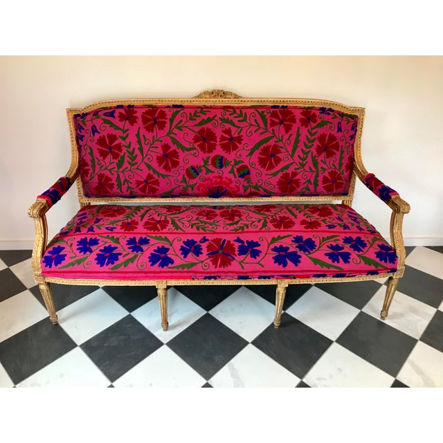 This bohemian French settee is ready for its new home! This amazing 100 year old settee would be an amazing piece in any...
