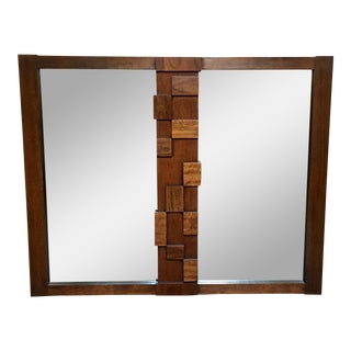 Lane Brutalist Wall Mirror For Sale
