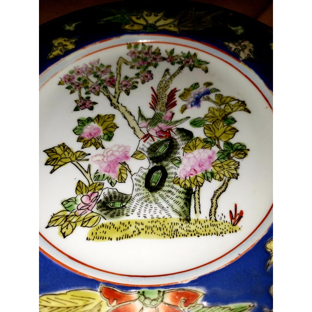 Ceramic 1880s Antique Qing Dynasty Tongzhi Porcelain Plate For Sale - Image 7 of 11