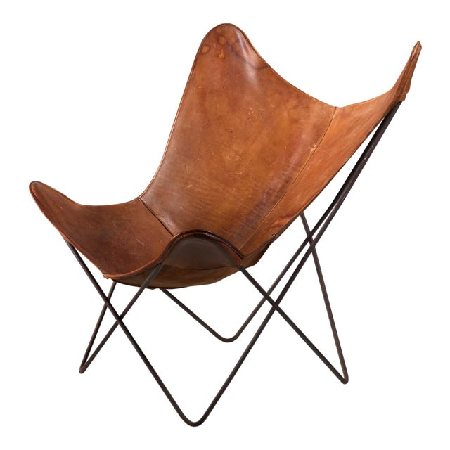 Superb Jorge Ferrari-Hardoy Butterfly Chair for Knoll, 1950s | DECASO