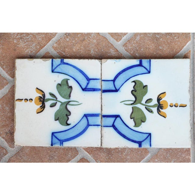20th Century Tin-Glazed Pottery Tiles - a Pair For Sale - Image 4 of 8