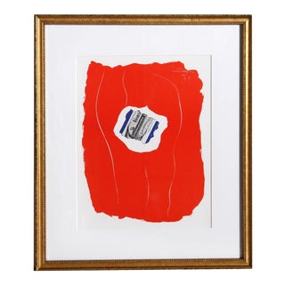 Robert Motherwell, Tricolor 137, Framed Offset Lithograph For Sale