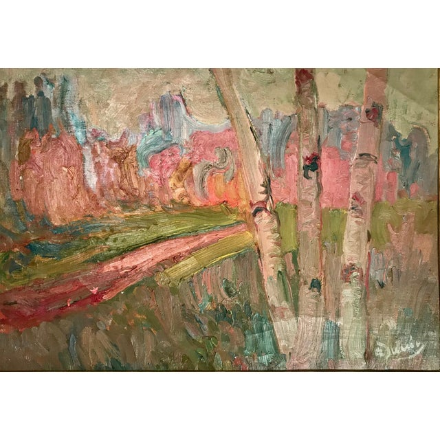 French Fauve Landscape Oil Painting Signed, A. Derain, 1880- 1954 Although Derain painted with his contemporaries, like...