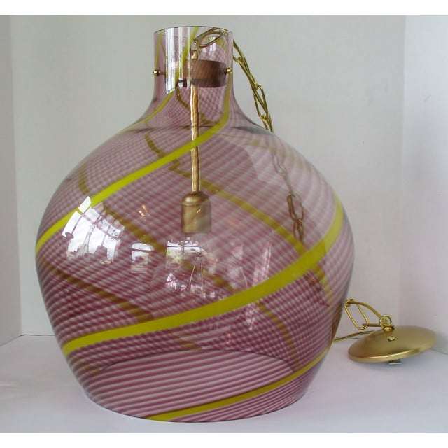 Blown Glass Oversize Italian Glass Pendant For Sale - Image 7 of 7