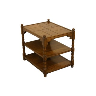 Late 20th Century Vintage Drexel Bishopsgate Collection Tiered End Table For Sale