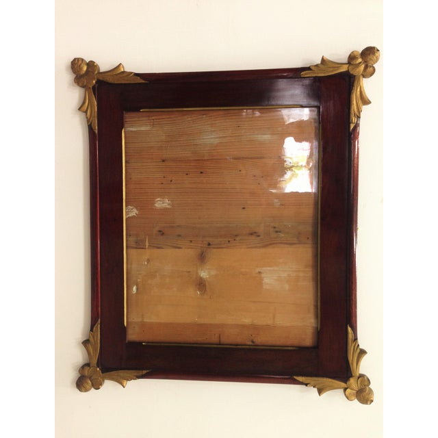 19th Empire Style Rectangular Frame with Bronze Mounts in the Corners - Image 2 of 7