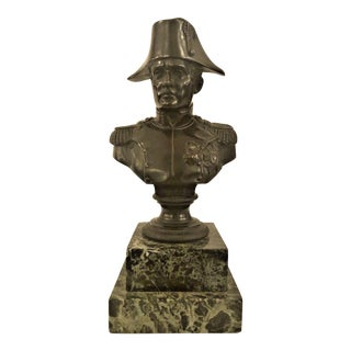 Antique French Late 19th Century Napoleon Bronze Statue. For Sale