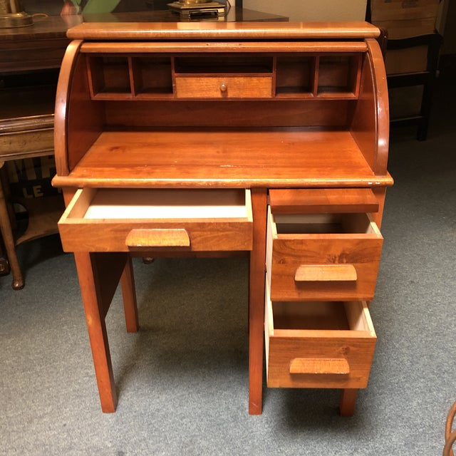 Antique Miniature Roll Top Desk For Sale - Image 4 of 11