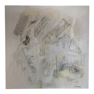 Contemporary Minimalist Abstract Mixed-Media Collage by Joe Adams For Sale