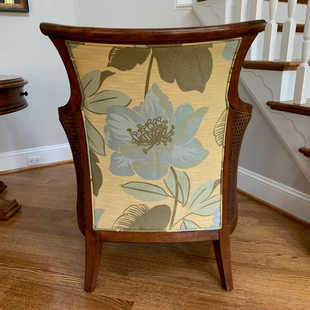 Traditional Tommy Bahama Style Upholstered Side Chair For Sale - Image 3 of 6